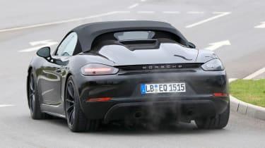 Porsche 718 Boxster Spyder Spies – rear