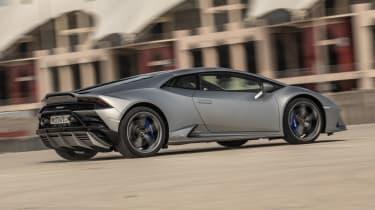 Lamborghini Huracan EVO silver - rear