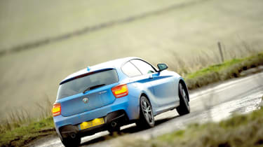 BMW M135i on the road