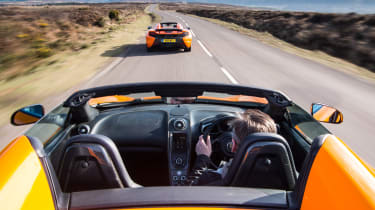 Mclaren 650S Spider tracking from McLaren 12C Spider