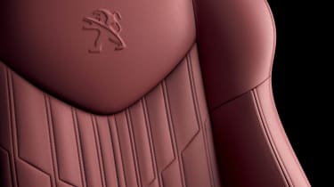 Peugeot RCZ Magnetic red leather seat
