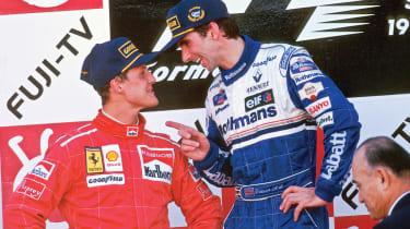 Damon Hill and Michael Schumacher