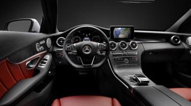 Mercedes C-class interior dashboard steering wheel