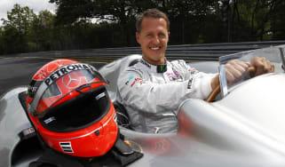 Schumacher drives F1 car at Nurburgring