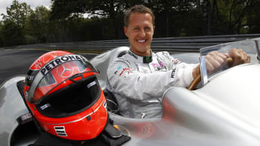 Schumacher drives F1 car at Nurburgring