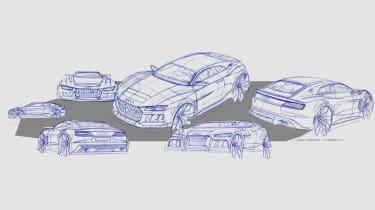 Audi Quattro concept sketches