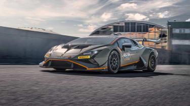 Lamborghini Huracán Super Trofeo Evo 2 – front quarter tracking