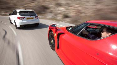 Ferrari Enzo v Audi RS3 v Ford Focus RS v Subaru Impreza STI