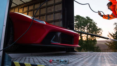 evo archive – LaFerrari truck extraction – creeping out now