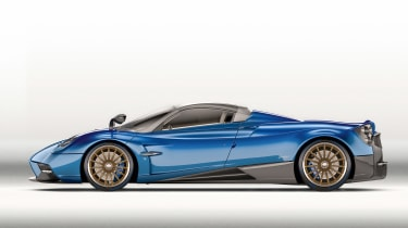 Huayra roadster profile 2