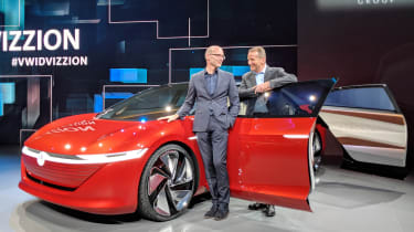 Volkswagen I.D. Vizzion – on stand Geneva