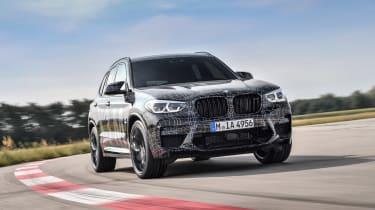 BMW X3 M and X4 M prototypes - front quarter