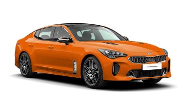 2021 Kia Stinger orange front