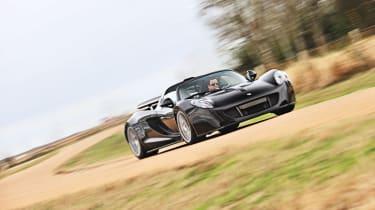Hennessey Venom GT cornering