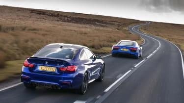 R8 RWS vs BMW M4 CS -  rear tracking