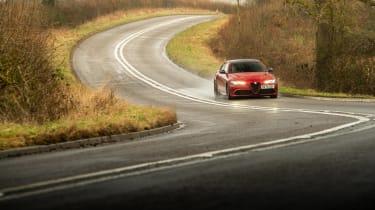 Alfa Romeo Giulia Quadrifoglio review LCI – front quarter