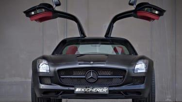 Mercedes SLS AMG 'Black' by Kicherer, dead front picture