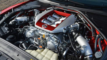 2013 Nissan GT-R twin turbo V6 engine