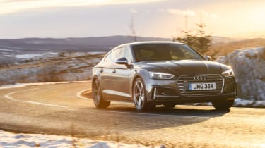 Audi S5 Sportback front three quarters cornering