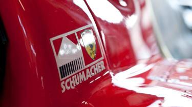 Michael Schumacher's Ferrari F1 car driven