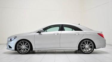 Brabus Mercedes CLA silver side profile