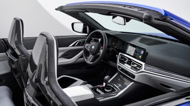 BMW M4 Competition Convertible –interior