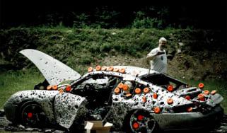 Porsche 911 gets shot 10,000 times