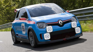 Renault TwinRun V6 hot hatch concept blue and red