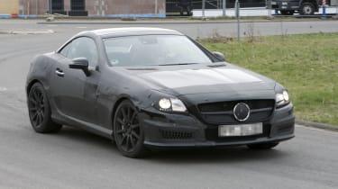 Mercedes-Benz SLK63 AMG spy shots