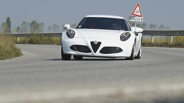 Alfa Romeo 4C front white
