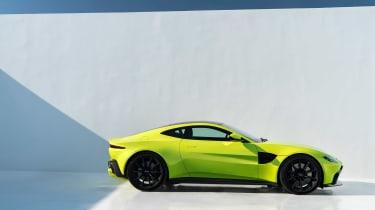 Aston Martin Vantage - green static profile
