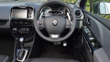 Renault Clio GT Line interior steering wheel dashboard