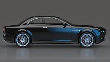 BMW CS Vintage Concept black side profile