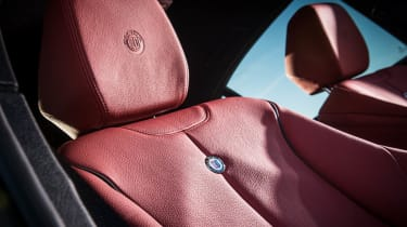 Alpina D3 Biturbo red leather seat