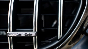 Mercedes-AMG C63 S Coupe black - grille