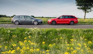 Skoda Octavia vRS 245 Estate and Audi RS4 Avant (B7)