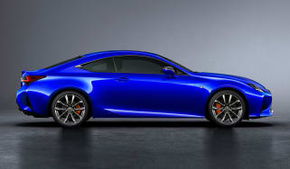 Lexus RC coupe facelift - profile