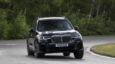 BMW X7 review - front cornering