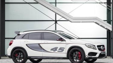 Mercedes GLA45 AMG Concept white side profile