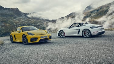 Porsche 718 Cayman GT4 and Spyder