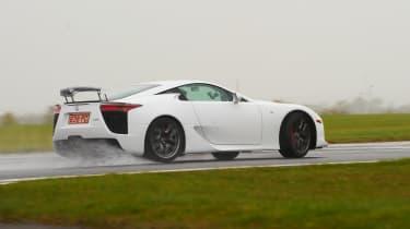 Lexus LFA white drift