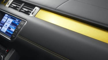Range Rover Evoque Sicilian Yellow Limited Edition dashboard detail