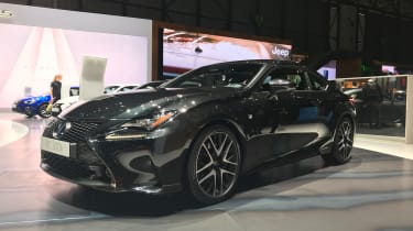 Lexus RC300h F Sport Black Edition – front quarter