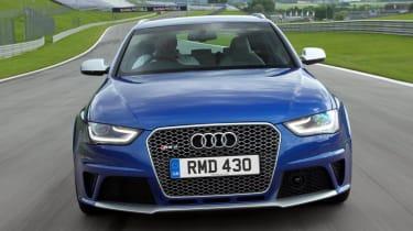 Audi RS4 Avant blue front