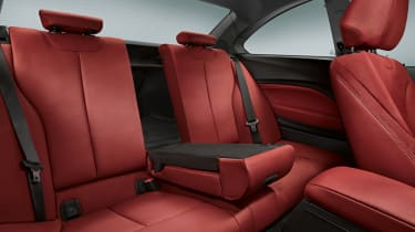 BMW 2-series coupe rear seats