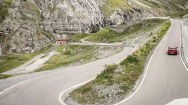 Alfa Romeo Stelvio (rear) on the Stelvio Pass