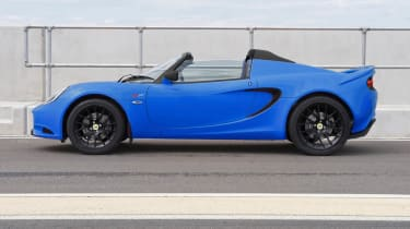New Lotus Elise S Club Racer blue side profile
