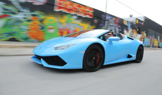 Lamborghini Huracan Spyder - front tracking