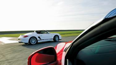 Audi R8 Spyder V8 v Porsche Boxster Spyder
