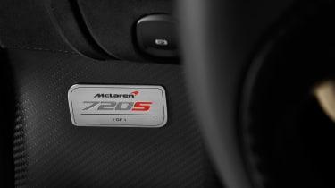 McLaren 720 S Dubai – plaque